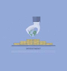 Global investment concept business vector