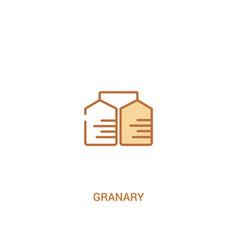 granary concept 2 colored icon simple line vector image