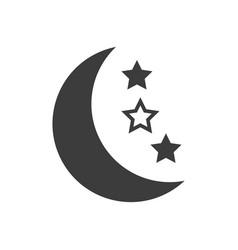 half moon icon on white background vector image