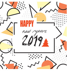 happy new year 2019 banner abstract winter vector image