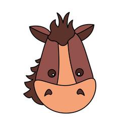 horse face animal vector image