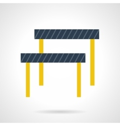 Hurdles flat color icon vector