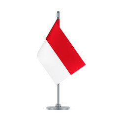 Indonesian flag hanging on the metallic pole vector