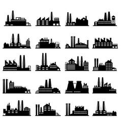 Industry business buildings industrial warehouse vector