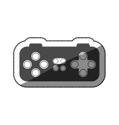 Isolated gamepad of videogame design vector image