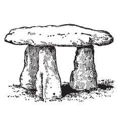 Lanyon quoit dolmen vintage vector