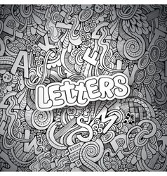 Letters abstract decorative doodles background vector