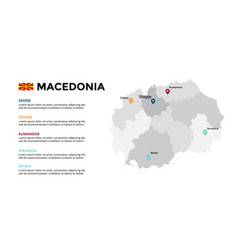 macedonia map infographic template slide vector image