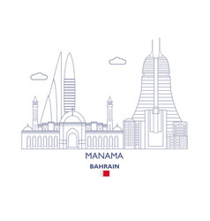 Manama city skyline vector