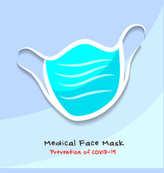 Medical face mask prevention covid-19 vector