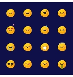 moon emoji set Funny planet emoticons vector image