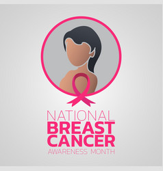 national breast cancer awareness month logo icon vector image
