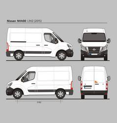 Nissan nv400 cargo delivery van l1h2 2015 vector