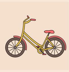 Outline bicycle bike isolated vehicle vector