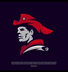Patriots logo design head patriots logo design vector