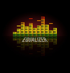 Piano equalizer concept color sound waves design vector