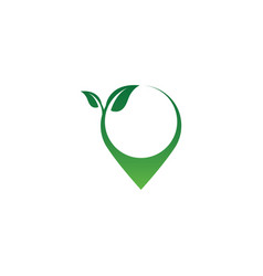 pin map natural logo icon design template vector image