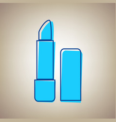 Pomade simple sign sky blue icon with vector