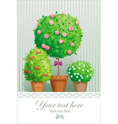Pot flowers vector image vector image