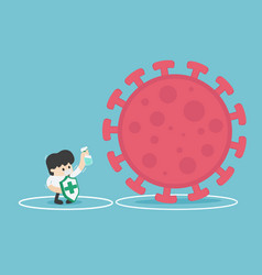 protect from virus protect from covid-19 virus or vector image