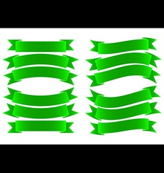 Ribbon Banner Green vector