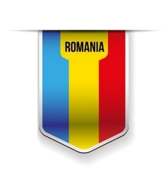 Romania flag ribbon vector image