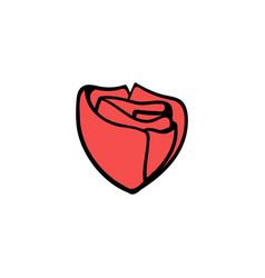 rose icon design template vector image