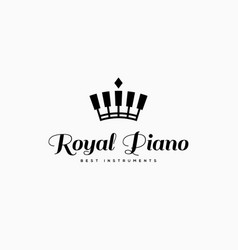 Royal piano logo vector