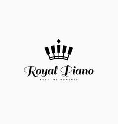 royal piano logo vector image