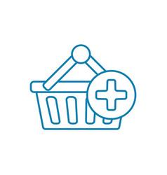 shopping linear icon concept shopping line vector image