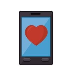 Smartphone heart medicine online vector