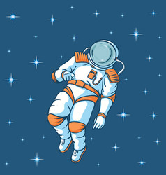 Spaceman with stars vector