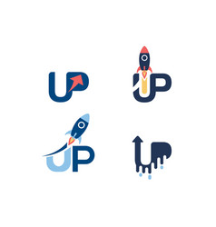 start up logo set logo sign symbol icon vector image