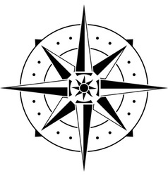 stencil of compass vector image