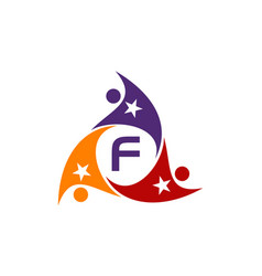 Success life coaching letter f vector