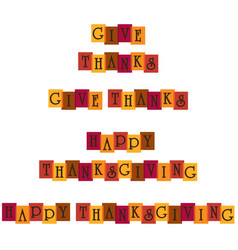 Thanksgiving overlapping typography graphics vector