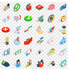 Usage icons set isometric style vector