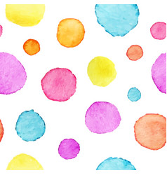 watercolor polka dot pattern watercolor vector image