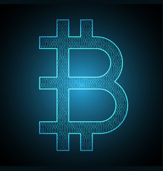 bitcoin binary symbol vector image