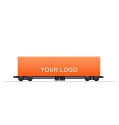 Cargo Train Unit vector image