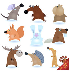 cartoon animals vector image vector image