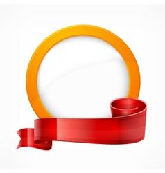 Circle frame with ribbon vector image vector image