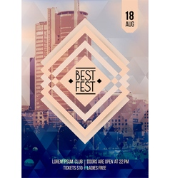 Flyer template for Best festival vector image