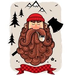 Lumberjack vector image vector image
