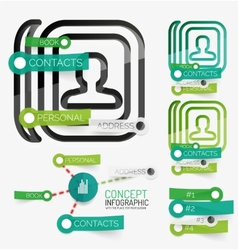 minimal contact book infographic vector image