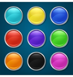 Round patterned icons for the app vector image vector image