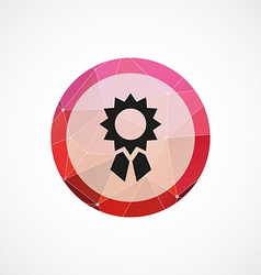 achievement circle pink triangle background icon vector image vector image