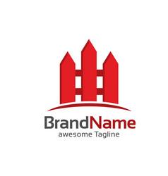 Fence creative logo vector