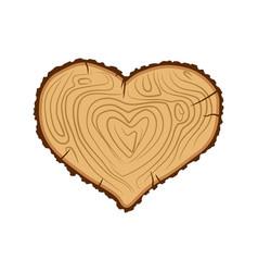 heart wood i love tree like firewood vector image