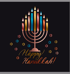 jewish holiday hanukkah vector image vector image